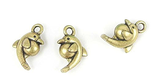 270x Anti-Brass Fashion Jewelry Making Charms A3177 Dolphin Wholesale Supplies Pendant Retro DIY Craft Alloys Lots Repair Jewellery Findings