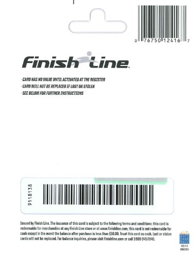 Review Finish Line Gift Card