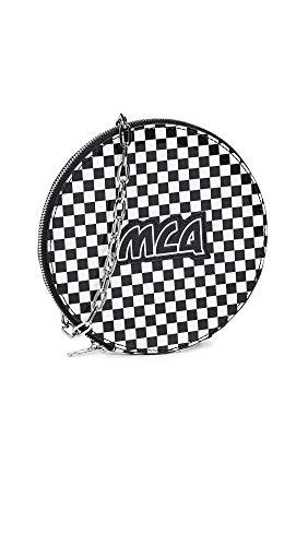 Alexander Mcqueen Handbags - McQ - Alexander McQueen Women's Circle Pouch Bag, Black/White, One Size