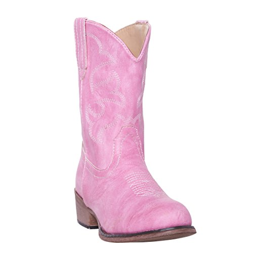 Children Western Kids Cowboy Boot,Pink,7 M US Big Kid
