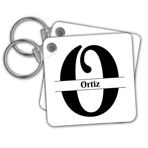 (BrooklynMeme Monograms - Bold Script Monogram O - Ortiz - Key Chains - set of 2 Key Chains (kc_306522_1))