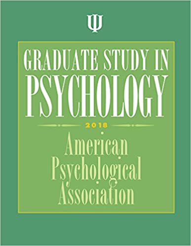 Amazon Com Graduate Study In Psychology 9781433828119 American