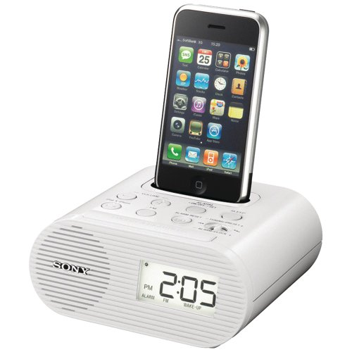 Sony ICFC05iP 30-Pin iPod Alarm Clock Speaker Dock (With Nano Radio Ipod Clock Dock)