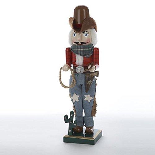 Kurt Adler 15-Inch Wooden Cowboy Nutcracker]()