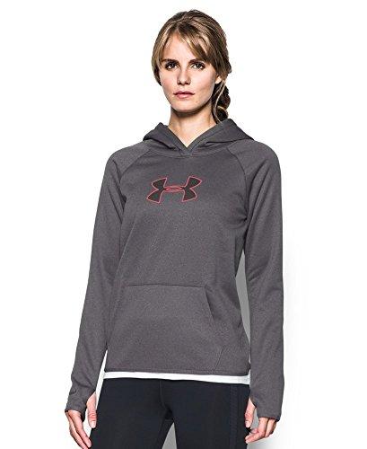 Under Armour Women's Storm UA Logo Hoodie, Carbon Heather (090), X-Large