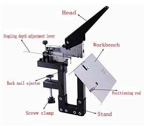 Manual Dual Flat nail Saddle Stitch Stapler Binding Machine 80g Hand Stapler Tacker