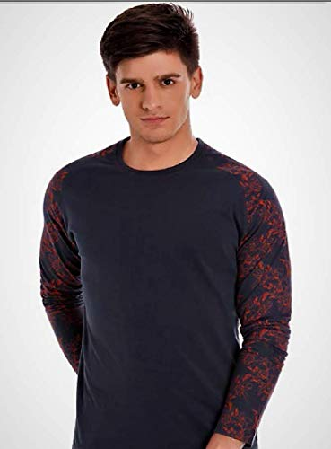 Marca Disati MD Red Printed Full Sleve Small Grey Pavement Colour Round  Neck T-Shirt.  Amazon.in  Clothing   Accessories 9bdde7ab48b