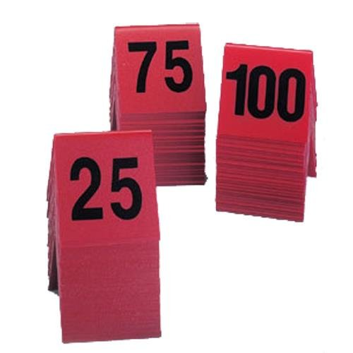 Cal-Mil 226 Break Resistant Number Tents, 3'' Width, 3'' Height, Red by Cal Mil
