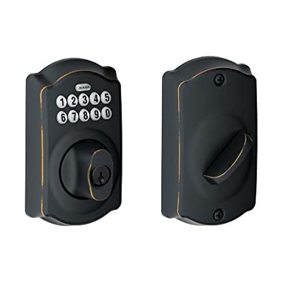 Schlage BE365V-CAM Camelot Electronic Keypad Single Cylinder Deadbolt,