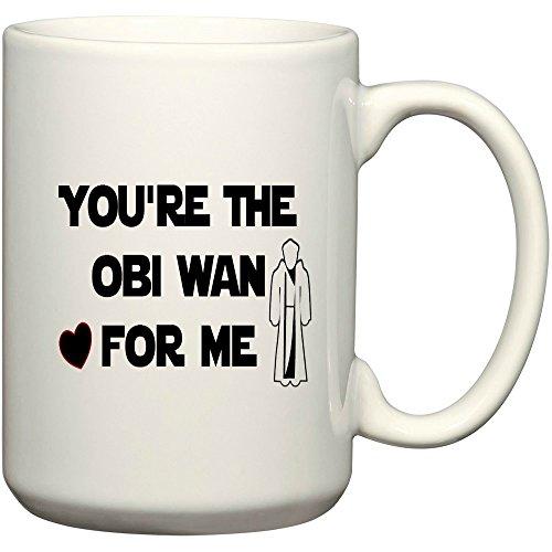 you're The Obi Wan For Me Mug, Funny Mug, Star wars mug (15 oz) (Princess Leia Quotes)