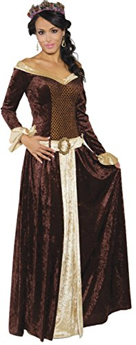 Underwraps Womens My Lady Renaissance Faire Medievil Themed Halloween Costume, S -