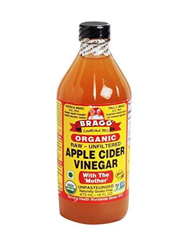 With Apple Cider Bragg Mother Vinegar (Bragg USDA Gluten Free Organic Raw Apple Cider Vinegar w/ Mother | Pack of 1 16oz)