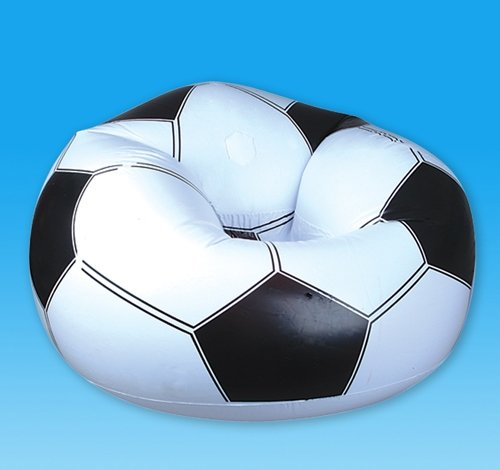 SOCCER BEANLESS CHAIR, Case of 8 by DollarItemDirect