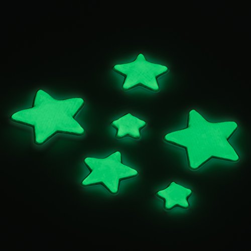 Glow In The Dark - 5 Pointed Stars - 3D, Domed, Self Adhesive Stars - 400 Stars Per - In Paint Glow Make Dark How To The