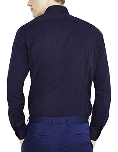 Celio, Camisa para Hombre Bleu (Marine Foncé)