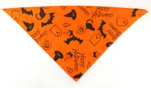 Halloween Dog Bandana (Orange Happy (Halloween Costumes Candy Apple)