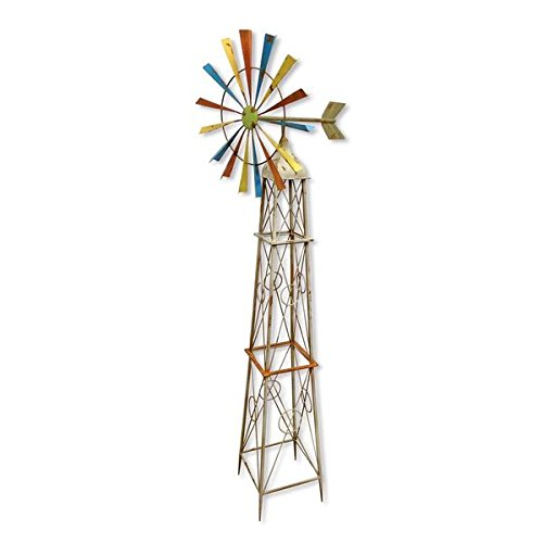 Backyard Expressions 908798 Rainbow Windmill Decoration by Backyard Expressions