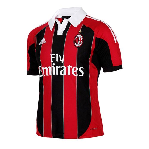 AC Milan Soccer Home Jersey, Medium, Red/Black/White - Ac Milan White Jersey