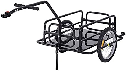 Cargo Trailer Steel Large Bike Bicycle Luggage Cart Carrier Shopping Wheel