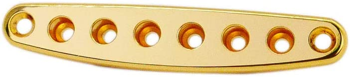 Guyker Guitar Bridge String Ferrule Bushing Plate Strings Thru Body Ferrules Replacement for Electric Guitar or Bass Black