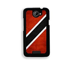 Flag of Trinidad And Tobago Grunge - Protective Designer BLACK Case - Fits HTC One X / One X+