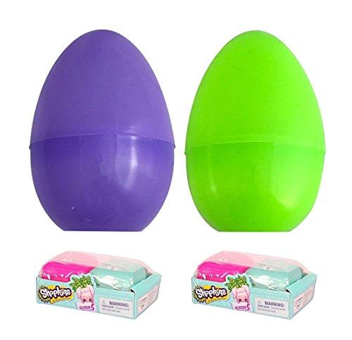 Shopkins Season 5 Blind Basket Filled Jumbo Easter egg bundle; Set of 2 Filled Eggs