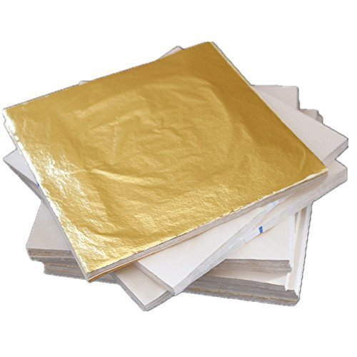 100-sheets-14-x-14cm-imitation-gold-leaf-gilding-foil-copper-leaf-luxurious-free-shipping