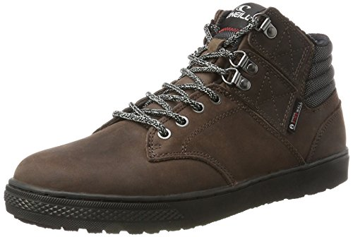 ONeill Raybay Heat Leather, Sneaker a Collo Alto Uomo Braun (Brown-black)