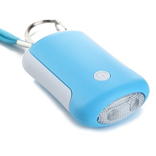 120 dB Personal Rape/Jogger/Student Emergency Alarm with LED Light and Included LR44 Batteries (Blue)
