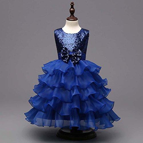 Tutu Demoiselle D'honneur De Filles Princesse Foncé Mariage Robe ❤️robe Bowknot Enfants Amlaiworld Concours Bleu P05YwqP