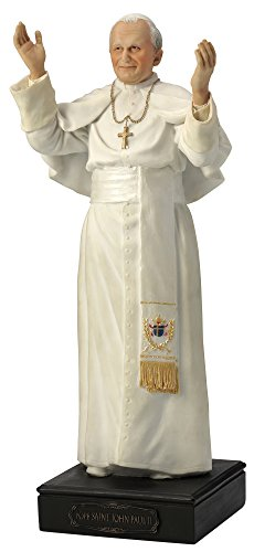 Pope Statue Paul (Pope John Paul II Statue - Cold Cast Resin)