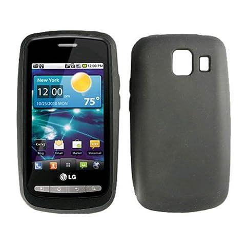 Verizon OEM Vortex LG Vs660 VS 660 Soft Gel Silicone Skin Cover Protective Case Black in Verizon Oem Retail (Verizon Vortex Phone Case)