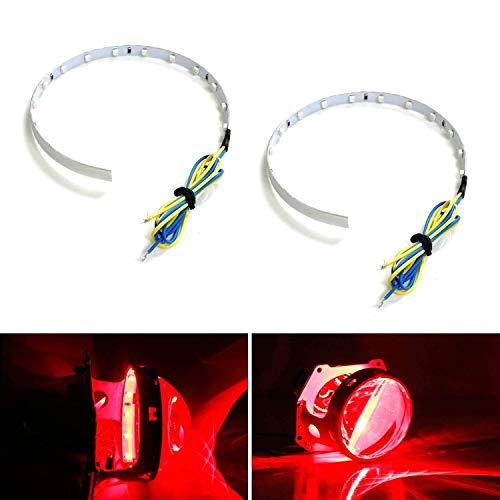 Malibu Halo Projector Headlights - iJDMTOY Brilliant Red 15-SMD High Power LED Demon Eye Halo Ring Kit for Car Motorcycle Headlight Projectors or Aftermarket 2.5 2.8 3.0 Inch Retrofit Projector Lens