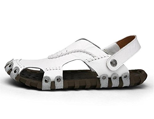 in EU39 da 38 da morbide estive Ciabatte Sandali le White Pantofole antiscivolo uomo ciabatte vera NSLXIE Scarpe black infradito Taglia 43 casual pelle per Zoccoli spiaggia qSwA5IA1