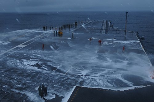 (Home Comforts Canvas Print Sailors wash Down The Flight Deck After Performing an aqueous Film Forming Foam System Test Aboard Stretched Canvas 10 x)