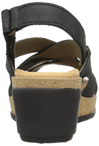 Pleasant Toe Sandals Naturalista Leaves N5002 Women's El Open Black Green 6tYOw