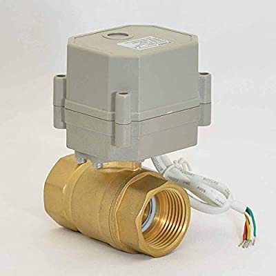 """Brass AC110-230V Motorized Ball Valve,Two Way 3/4"""" Electric Ball Valve with Position Indicator,with Multiple Wiring Methods"""