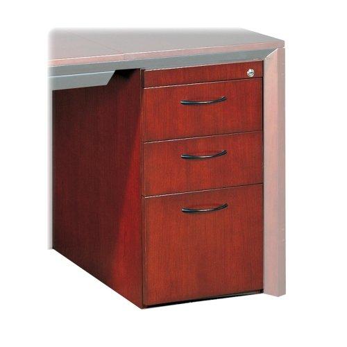 Mayline Corsica Series Box/Box/File Pedestal for Desk - 15quot; Width x 24quot; Depth x 27quot; Height - 3 x Box, File Drawer(s) - Beveled Edge - Wood - Cherry Veneer, Sierra (Corsica Series Box)