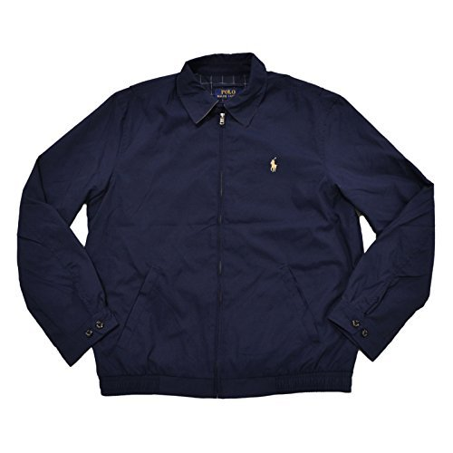 Polo Ralph Lauren Mens Bi-Swing Windbreaker Jacket (S, French Navy)