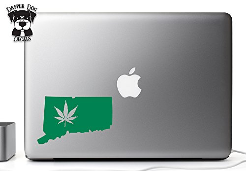 Green Leaf Connecticut Legal Marijuana 4/20 Four Twenty Proud I Heart My State 5