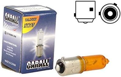 Micro Auto Halogenlampe H21 Baw9s Hy21w 12v 21w Orange Bernstein Versetzte Füße Für Pfeile Auto