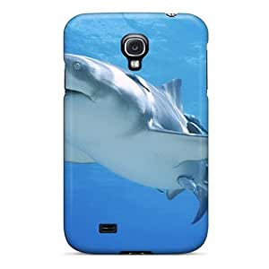 [STgXSqh3962nWcgz]premium Phone Case For Galaxy S4/ Shark Underwater Theme Wallpaper Tpu Case Cover