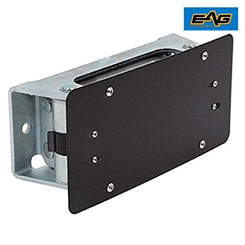 EAG Black License Plate Mount Bracket Universal for Roller Fairlead