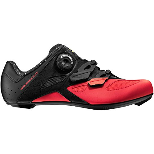 Mavic Sequence Elite Cycling Shoe - Women's Pirate Black/Firey Coral/Black, US 8.5/UK 7.0