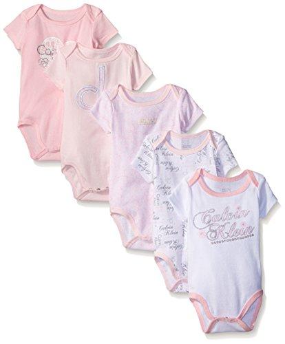 Amazon Com Calvin Klein Baby Girls Assorted Short Sleeve Bodysuit