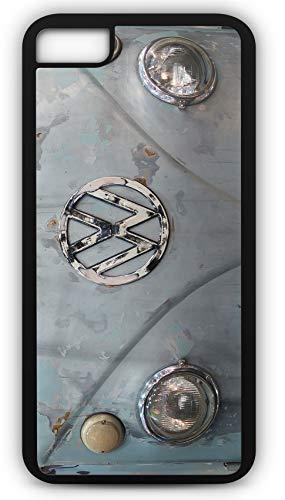 iPhone 8 Plus 8+ Case Classic Volkswagen Bus Van VW Retro Customizable by TYD Designs in Black Rubber