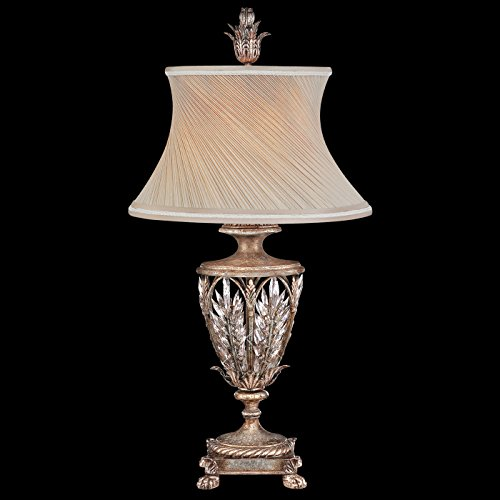 Fine Art Lamps Crystal Table Lamp (Fine Art Lamps 301610, Winter Palace Tall 3 Way Crystal Table Lamp, 1 Light, 150 Total Watts, Silver)