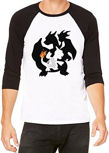 Charmander-Charmeleon-Camiseta-beisbol-Unisex
