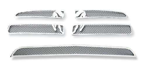 Fits 2011-2014 Dodge Charger Symbolic Stainless Steel Black Mesh Grille Grill Combo # D71108F