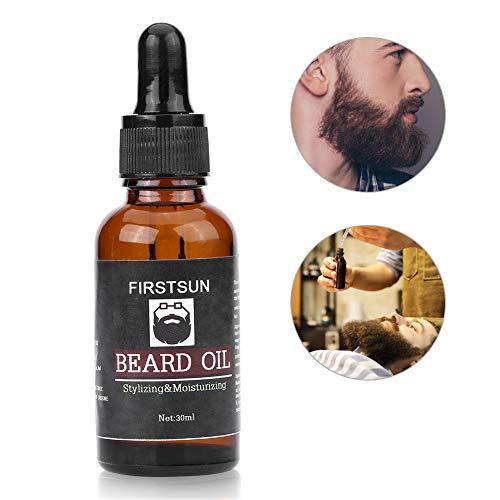 Aceite para barba de 30 ml nutre, hidrata, suaviza, estimula el brote y brilla para el cuidado y cuidado de barbas largas y...